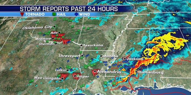 Damage reports after deadly storms were reported Wednesday into Thursday across the Southern Plains and the South.