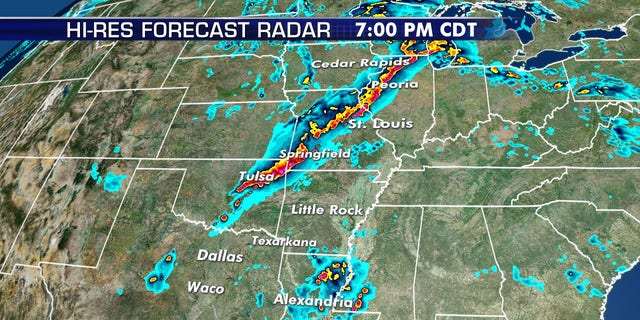 A damaging squall line is forecast to develop by Tuesday afternoon, moving east.