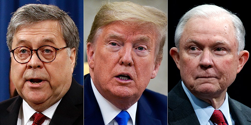 Trump says Russia probe wouldn't have happened if Barr was AG instead of  'disaster' Sessions | Fox News