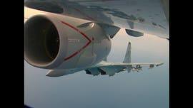 2 Russian fighter jets buzz US spy plane over Mediterranean