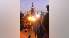 Los Angeles protest erupts over George Floyd death; American flag burned, Hwy 101 blocked