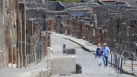 Tourists stuck in Italy finally visit Pompeii more than 2 months after arriving outside archaeological park