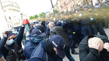 Anti-lockdown protests break out in London, Warsaw, other European cities as coronavirus shutdowns linger