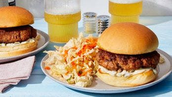 Summer grilling: Smoky beef burgers with spicy mayo and lime slaw