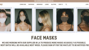 Kim Kardashian's SKIMS shapewear brand releases line of face masks