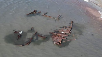 Storm reveals 120-year-old shipwreck in Great Salt Lake
