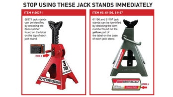 454,000 Harbor Freight jack stands recalled for risk of collapse