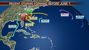 Tropical Storm Arthur joins recent storms that developed before hurricane season starts