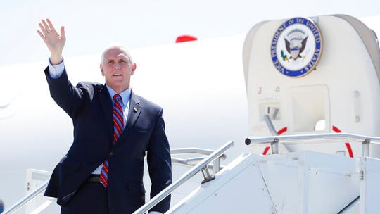 Air Force Two carrying VP Pence forced to turn around at New Hampshire airport after bird strike