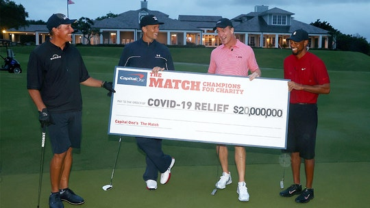 Tiger Woods, Peyton Manning beat Tom Brady, Phil Mickelson at 'The Match: Champions for Charity'