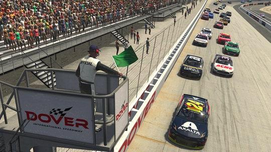 William Byron wins third eNASCAR race at digital Dover track