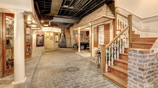 Maryland mansion for sale comes with Christmas village complete with cobblestone streets in basement