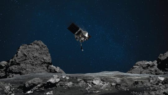 NASA's OSIRIS-REx spacecraft makes historic touchdown on asteroid Bennu