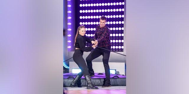 Ronda Rousey and Rob Gronkowski on 'Game On!'
