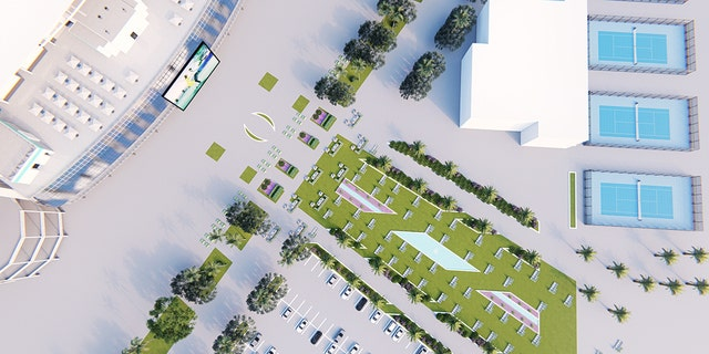 A rendering of the outside of the stadium (Courtesy Miami Dolphins)