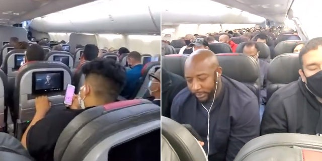 """""""All rows with the exception of maybe 4 rows were completely full of passengers. I've never felt so unsafe in my life,"""" wrote Tammy Gonzalez of her May 17 flight."""