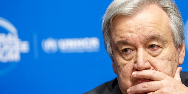 U.N. Secretary-General Antonio Guterres, pitcured in Dec. 17, 2019, urged faith leaders Tuesday to pushback on misinformation about the coronavirus pandemic, urging them to promote the World Health Organization.  (Salvatore Di Nolfi/Keystone via AP, File)