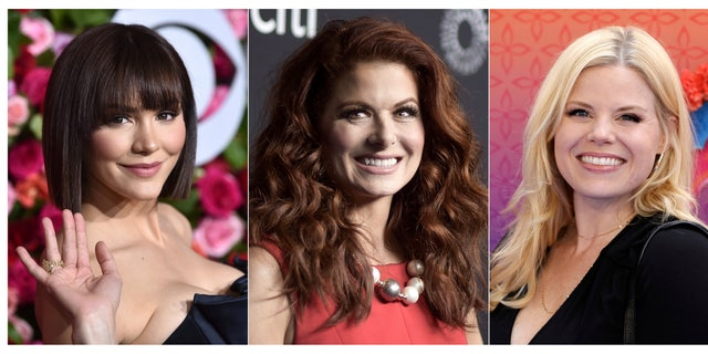(From left) Katharine McPhee, Debra Messing, and Megan Hilty will reunite May 20 to present a stream of the one-night-only 2015 Broadway concert of the musical within the TV show 'Smash.'