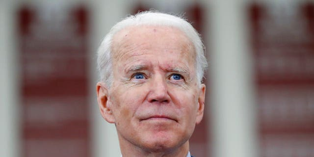 In this March 9, 2020, file photo Democratic presidential candidate former Vice President Joe Biden speaks during a campaign rally at Renaissance High School in Detroit. Biden has the chance to clinch the Democratic presidential nomination Tuesday. (AP Photo/Paul Sancya)