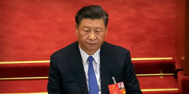 Chinese President Xi Jinping attends the closing session of China's National People's Congress in Beijing in May. (AP)