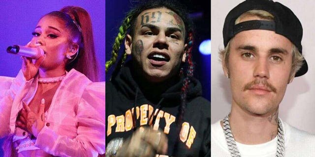 Rapper Tekashi 6ix9ine has accused Ariana Grande and Justin Bieber of allegedly buying their way into the No. 1 spot on the Billboard Hot 100 chart.