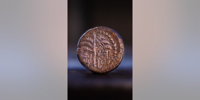 The coin is almost 2,000 years old. (Photo: Koby Harati, City of David Archive)