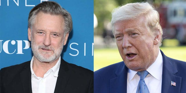 Bill Pullman (left) and Donald Trump.