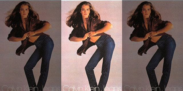 Brooke Shields caused a stir when she famously posed for Calvin Klein.