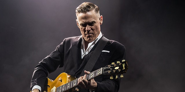 Bryan Adams performs on stage at Motorpoint Arena on March 05, 2019 in Cardiff, Wales. (Photo by Mike Lewis Photography/Redferns)