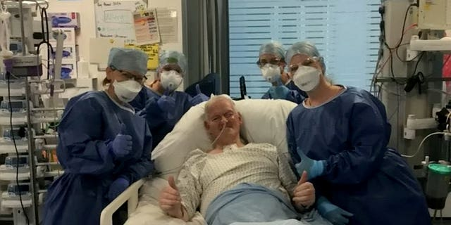 """Brian Harvey, 69, has been dubbed """"Teflon Man"""" by staffers who are helping to care for him.聽"""
