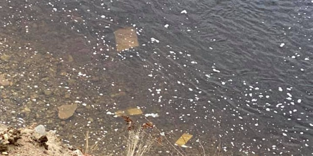 Headstones have fallen from the bluff into the river. (Courtesy:Maylynda Emerson)