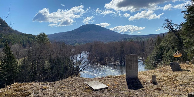A winding river in northern New Hampshire is eroding the bluff beneath a historic cemetery there.(Courtesy:Maylynda Emerson)