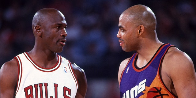 Jordan and Barkley matchup in the 1993 Finals. (Photo by Icon Sportswire)