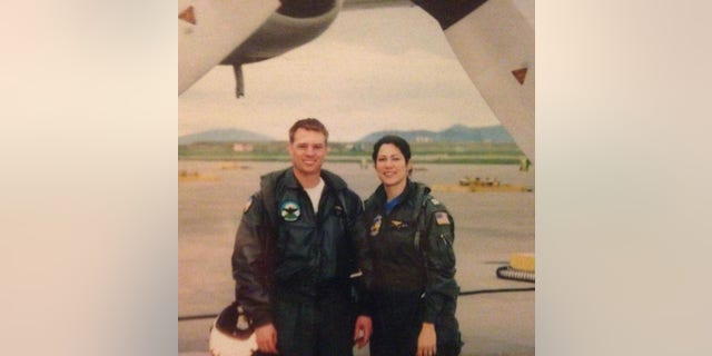 Second cousin once removed Chris and Angie Baker, U.S. Navy Lieutenants, 2003