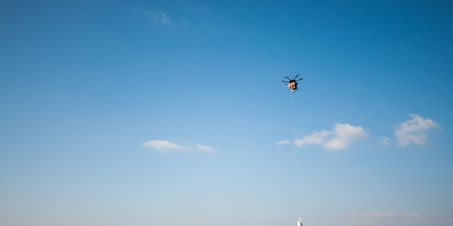 Flytrex drones, one of which is seen here, are taking part in the new program.