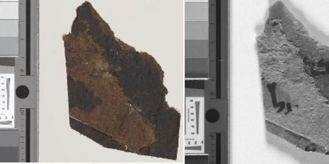 The four Dead Sea Scroll fragments are housed at the University of Manchester's John Rylands Library. The analysis of the fragments was conducted at King's College London. (The University of Manchester)