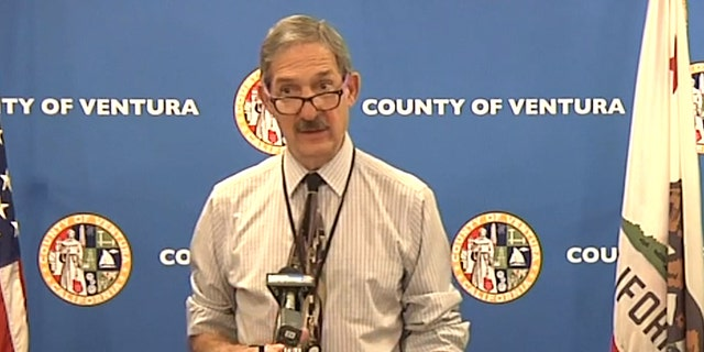 Dr. Robert Levin, director of Ventura County Public Health, speaking at a COVID-19 press briefing.