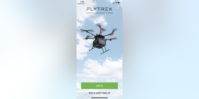 A screenshot from the Flytrex Eat mobile app.
