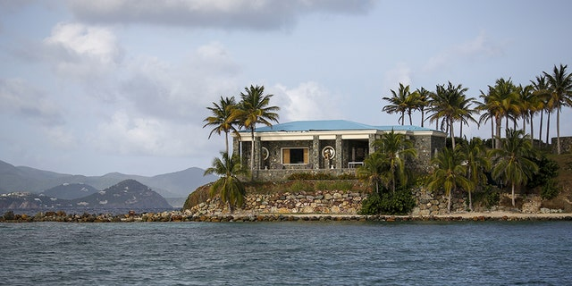 A villa stands on Little St. James Island, owned by fund manager Jefferey Epstein, in St. Thomas, U.S. Virgin Islands, on Wednesday, July 10, 2019. Photographer: Marco Bello/Bloomberg via Getty Images