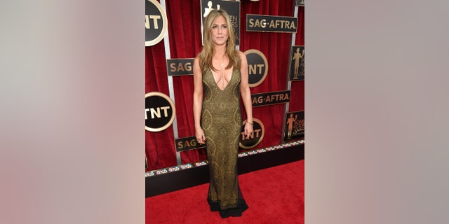 Jennifer Aniston attends TNT's 21st Annual Screen Actors Guild Awards at The Shrine Auditorium on January 25, 2015, in Los Angeles, Calif.