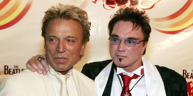 Magicians Siegfried Fischbacher and Roy Horn (R) arrive at the gala premiere of 'The Beatles LOVE by Cirque du Soleil' at The Mirage Hotel & Casino June 30, 2006 in Las Vegas, Nevada.