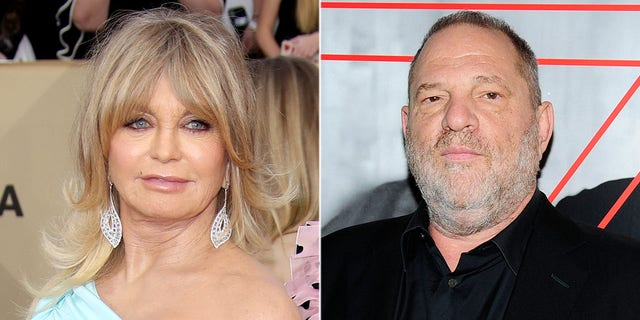 Goldie Hawn, right, admitted she once confronted Harvey Weinstein, right, over a role in the 2002 film adaptation of 'Chicago.'