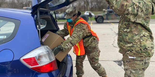 Ohio National Guard soldiers were deployed to help all food banks across the state.