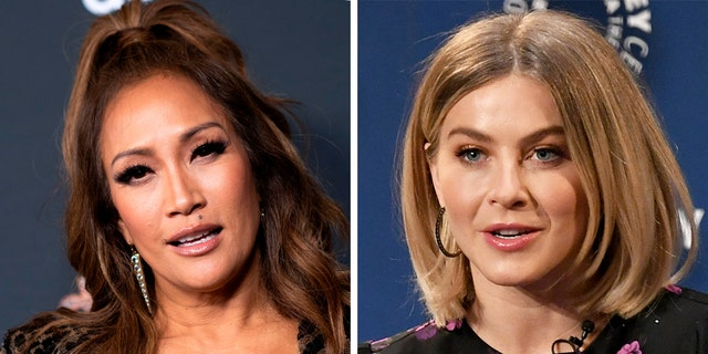 Carrie Ann Inaba (left) offered her support to Julianne Hough (right).