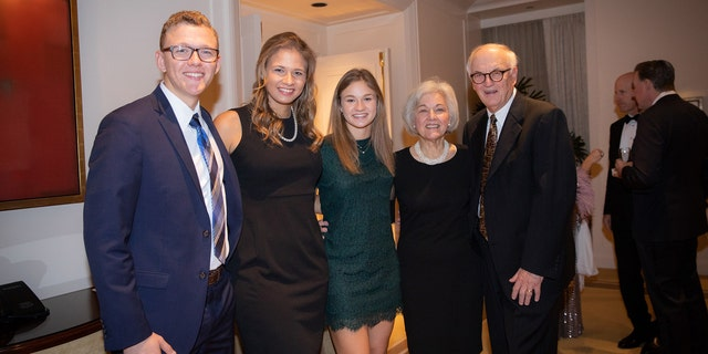 The Jarrell siblings and their grandparents at the 2018 Green Coat Gala. (Courtesy of the Jarrell family)