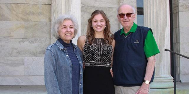 Caroline Jarrell and her grandparents, Dennis and Linda Pawlecki. (Courtesy of the Jarrell family)