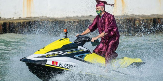 Somerset Island Prep held a Jet Ski Graduation ceremony for its 11 graduating seniors Tuesday in Key West, Florida.