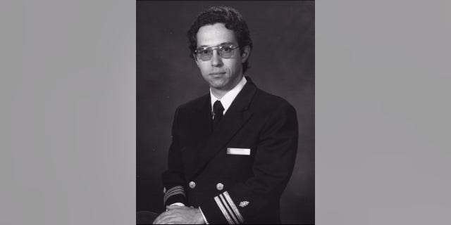 John Compagno, U.S. Navy commander in a photo from 1977