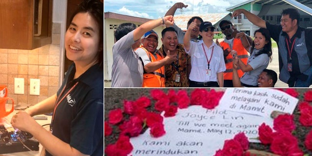 A makeshift memorial was set up for Joyce Lin, a missionary with Mission Aviation Fellowship. She died on Tuesday in a plane crash delivering supplies to a remote village.