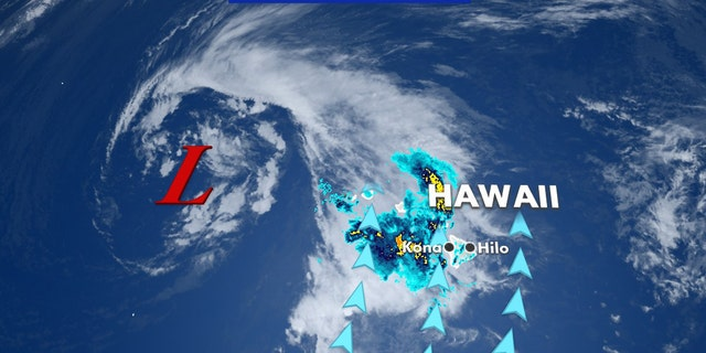 A Kona Low is a persistent subtropical cyclone that typically forms northwest of Hawaii between October and April.